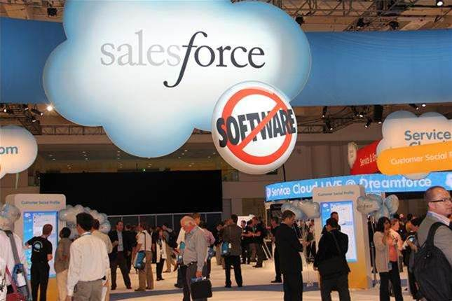 Salesforce.com opens up to hybrid cloud database