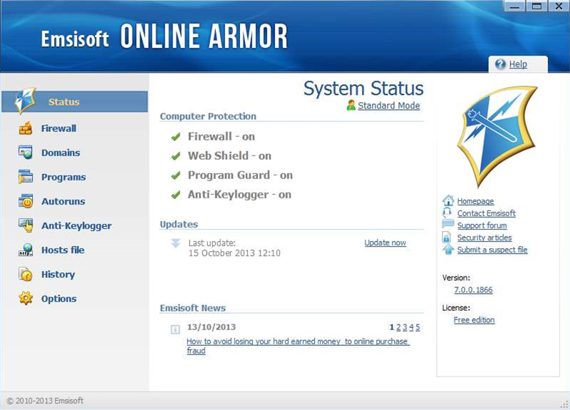 Emsisoft Online Armor 7.0 released