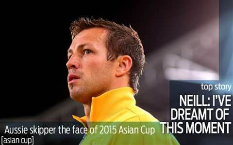 Neill named the face of 2015 Asian Cup