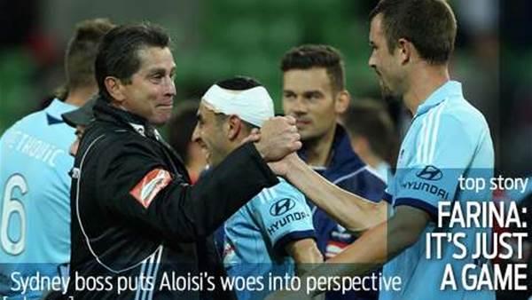Farina tells Aloisi don't take it to heart