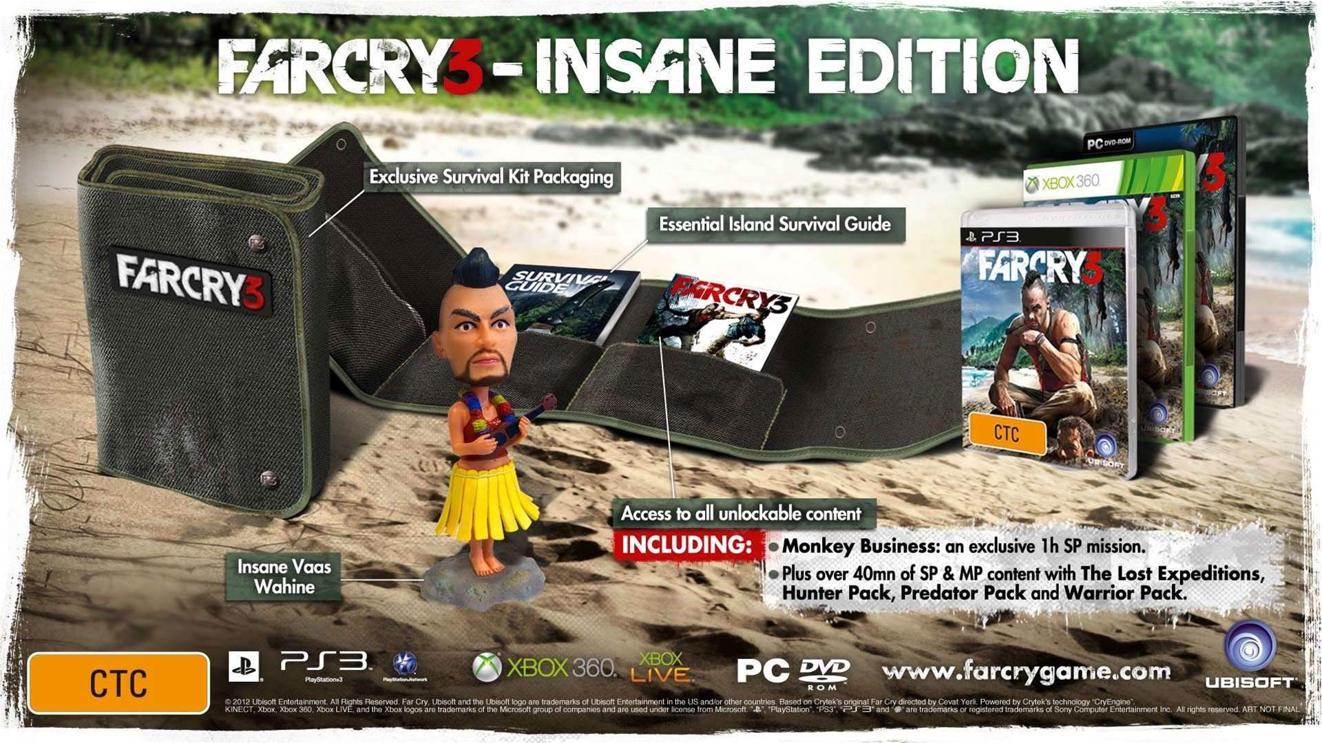 Even the Far Cry 3 Insane Edition is, well, INSANE