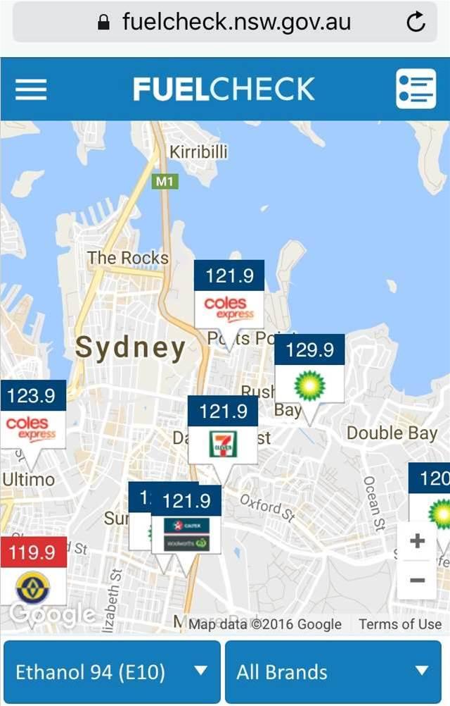 NSW govt's fuel comparison API goes live