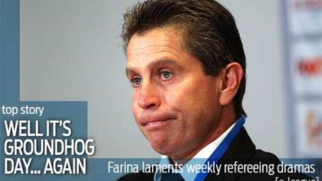 Farina's Groundhog Day after 'soft' penalty