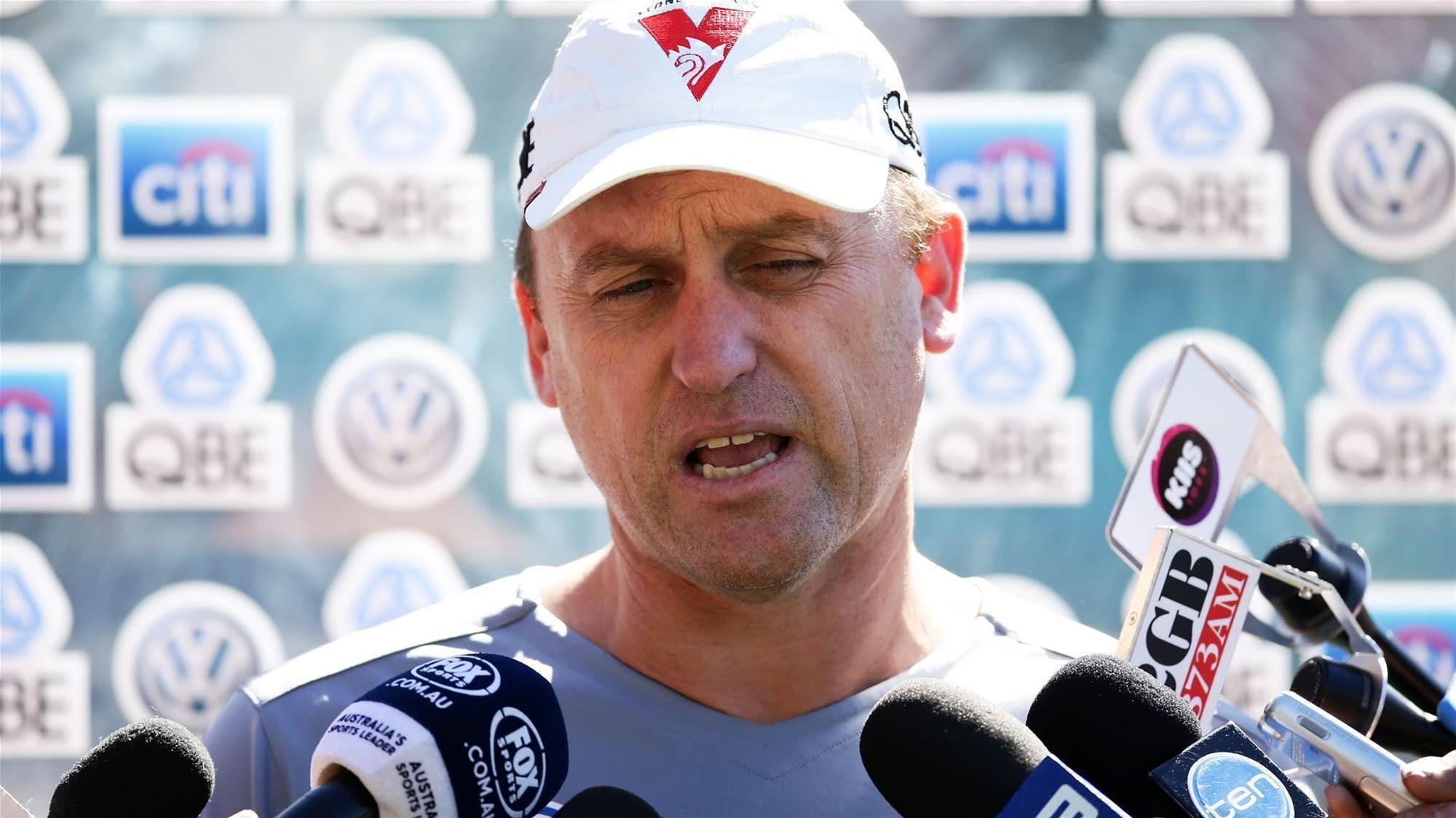 Longmire says Mcveigh to miss start of season