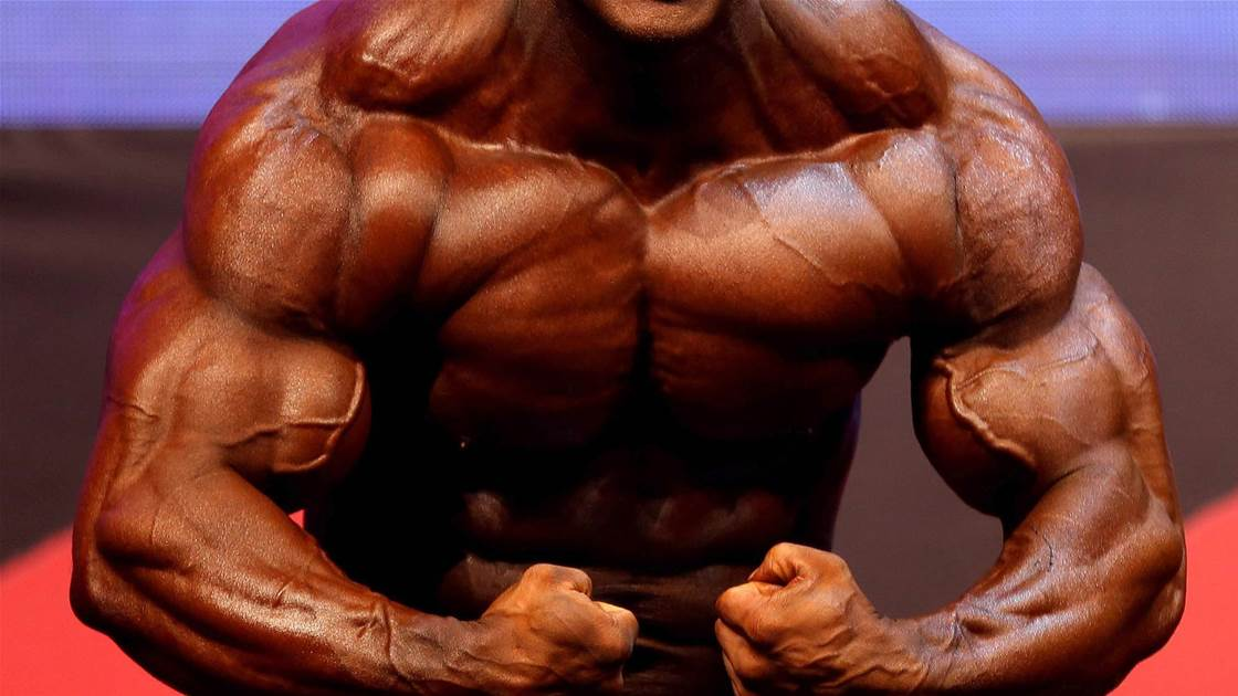 Bodybuilder floors judge, whips out penis