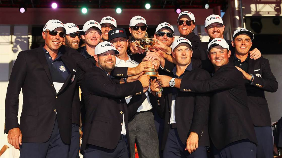 RYDER CUP: U.S snaps Europe's streak with emphatic victory.