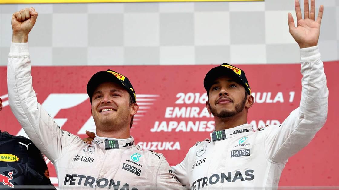 Rosberg hangs on as Hamilton hits back