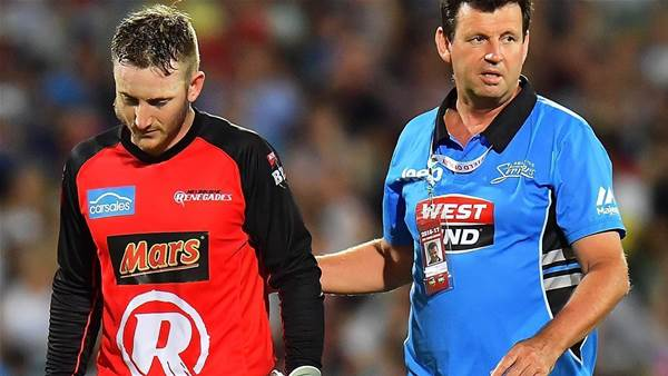 Nevill out for season after bat to the face
