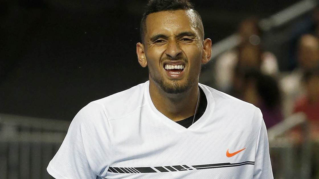 """Kyrgios not even training """"15 minutes a day"""""""