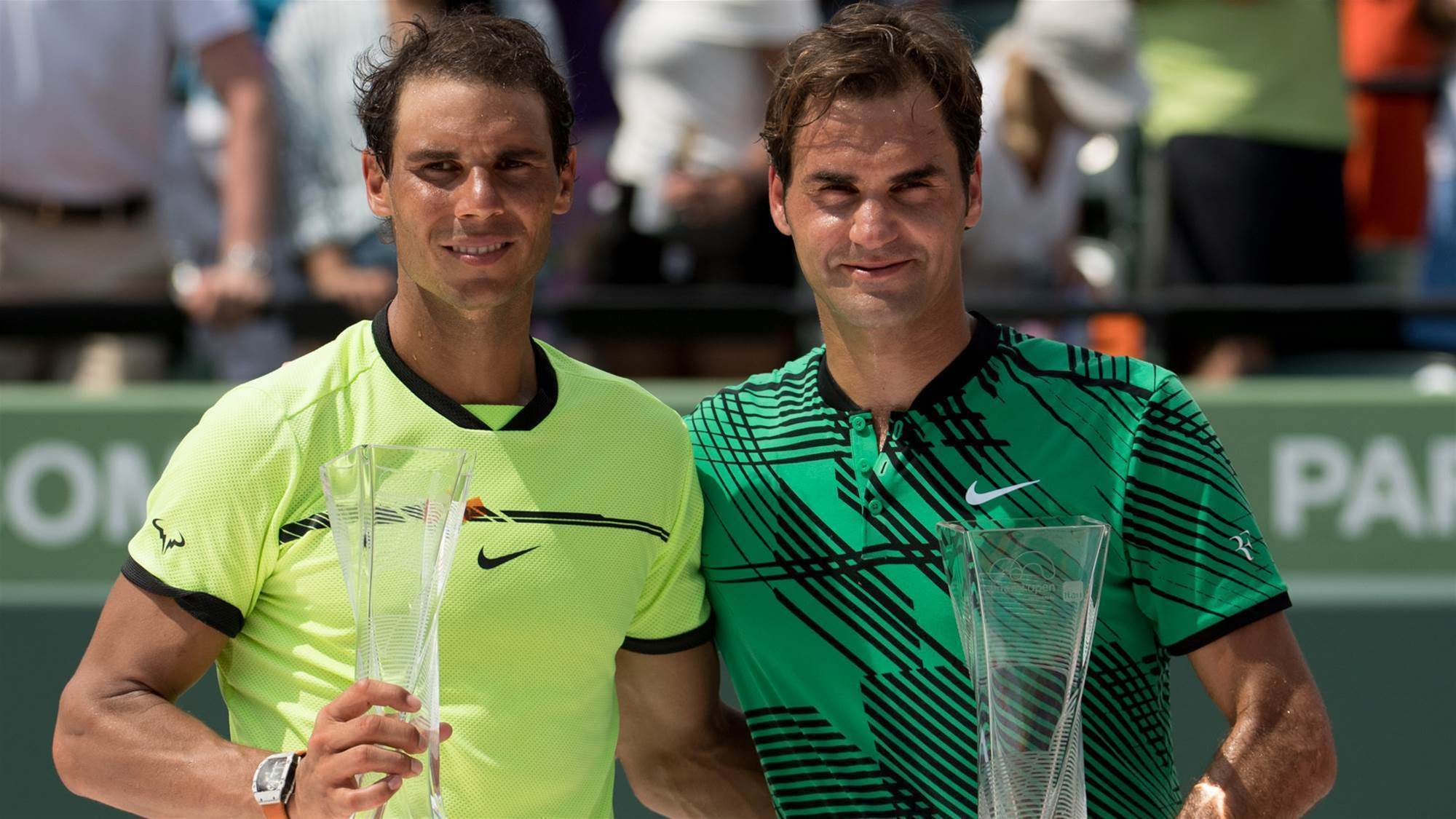 "Federer: ""I'm so happy we're here together"""