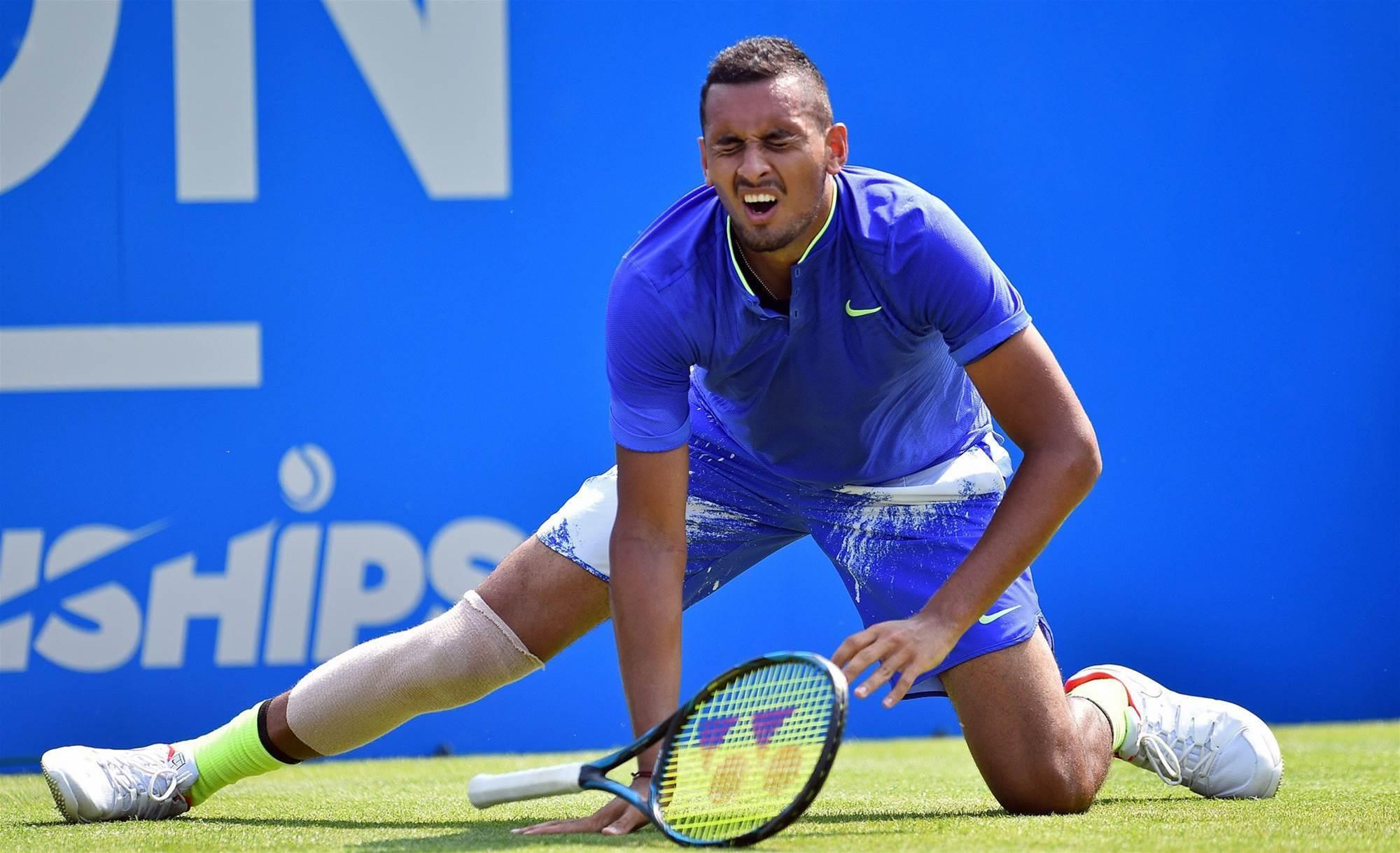 Kyrgios bullish for Wimbledon despite retiring hurt