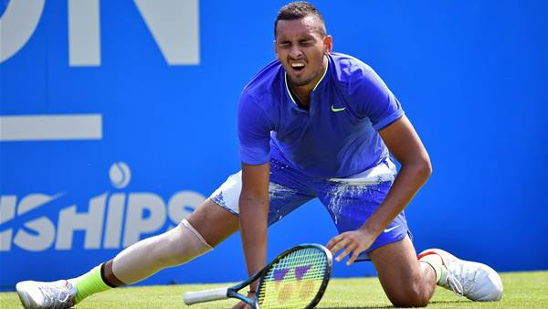 Kyrgios bullish for Wimbledon despite retiring hurt