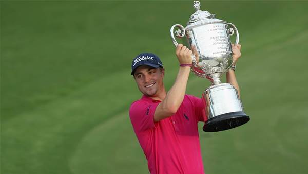 PGA: Justin Thomas holds his nerve to grab first major