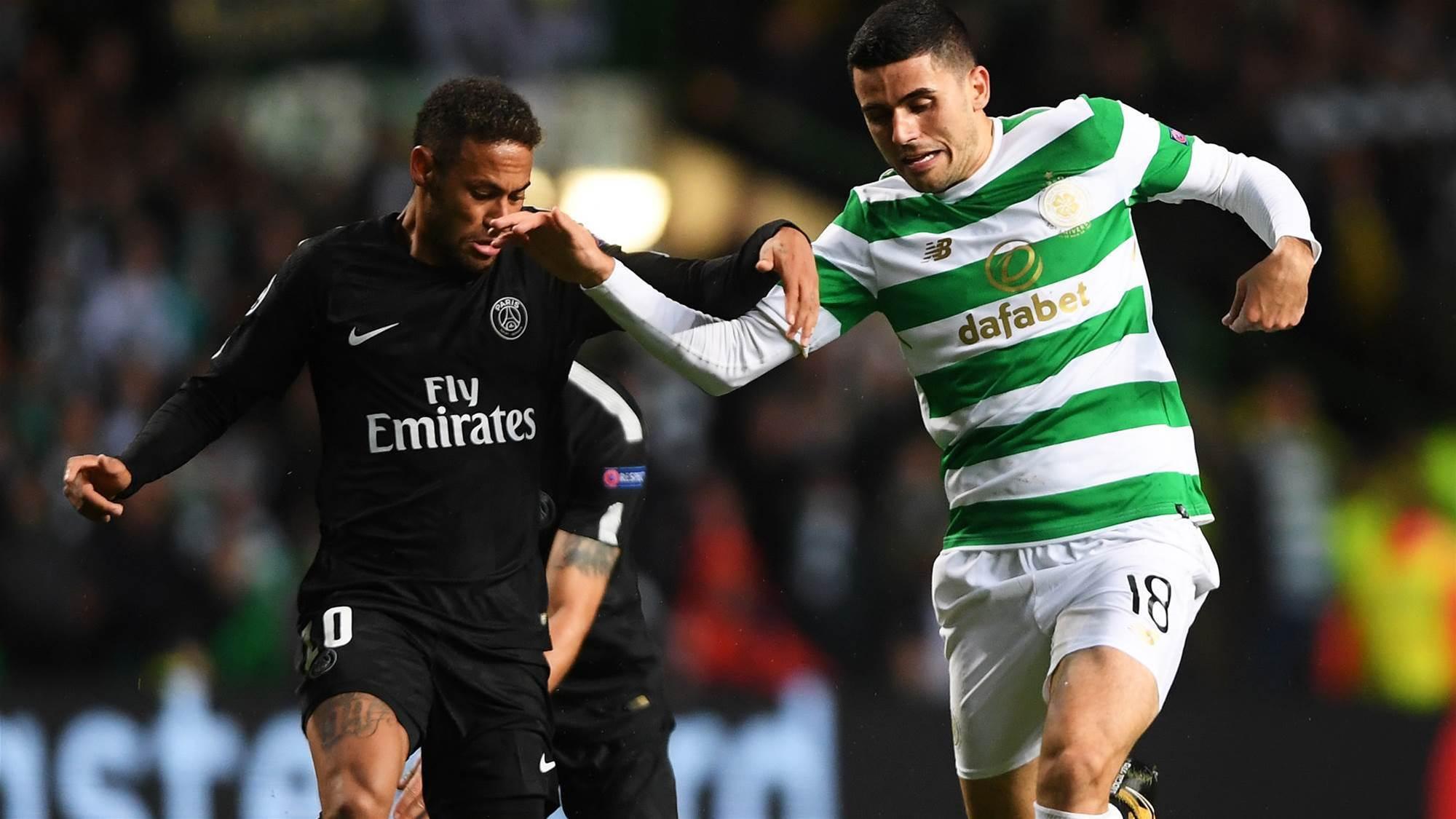 Rogic & Celtic thrashed by Neymar's PSG