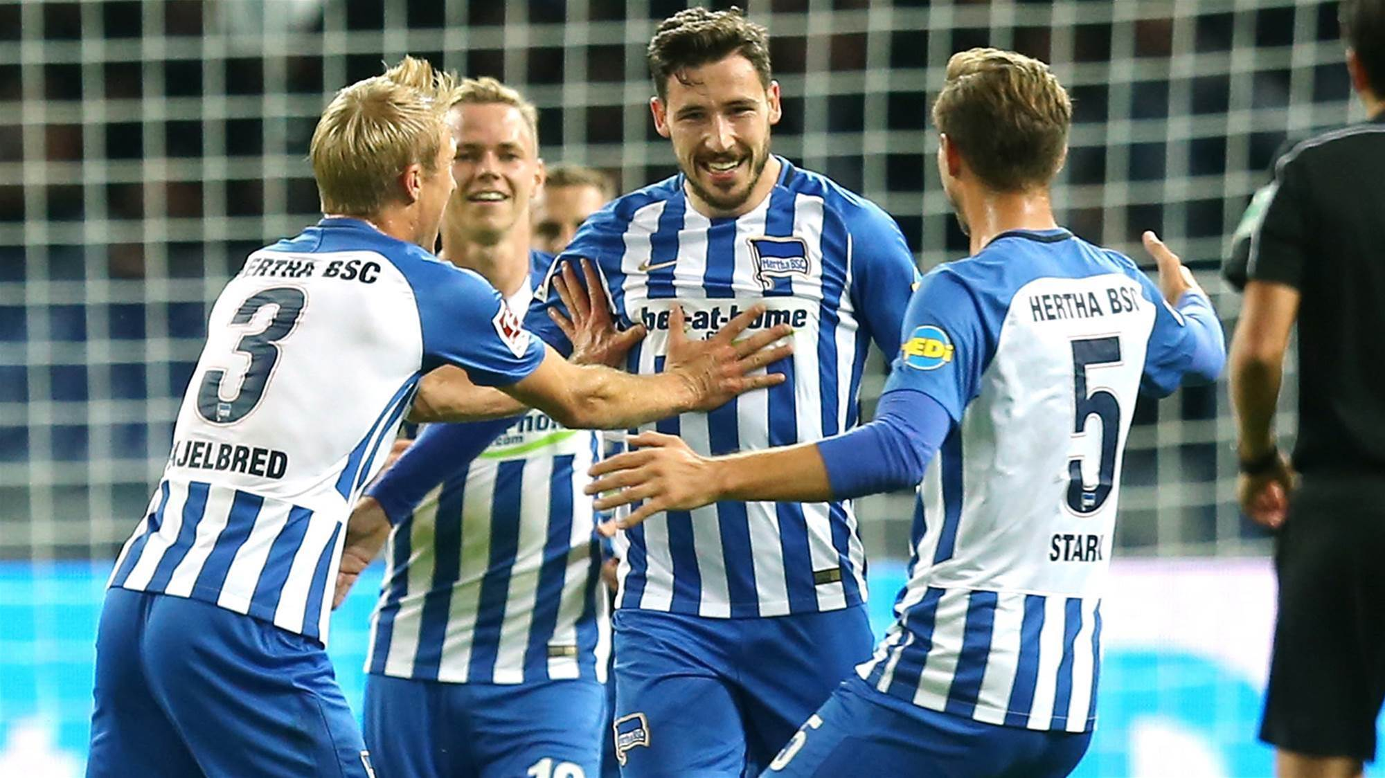 Leckie scores and stars in Hertha win