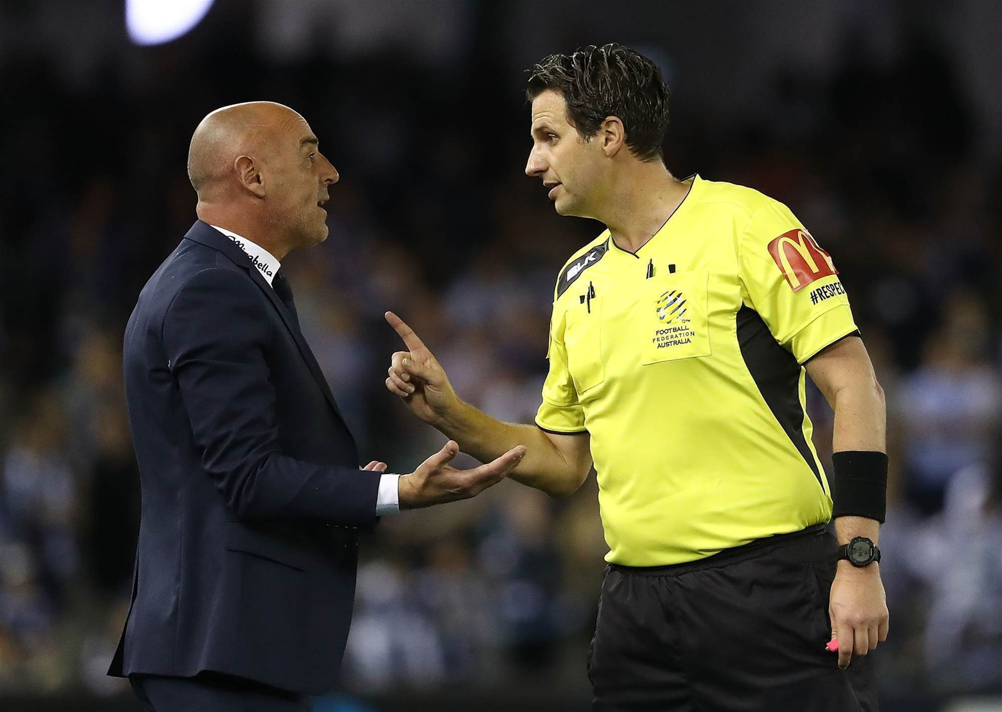 FFA to trial yellow/red cards for coaches