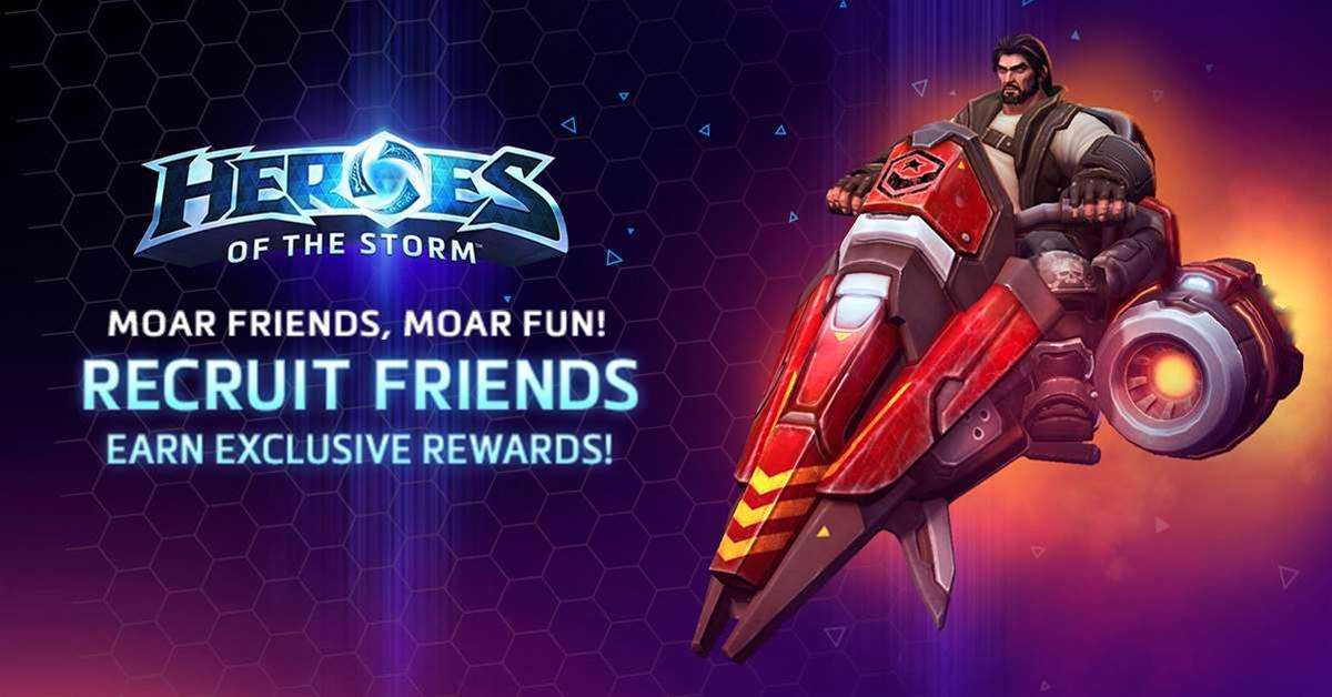 Blizzard wants you to recruit friends in Heroes of the Storm
