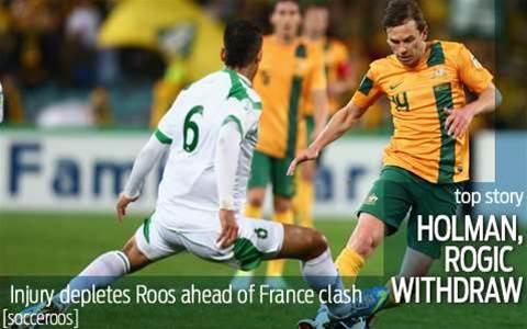 Socceroos lose Holman and Rogic to injury