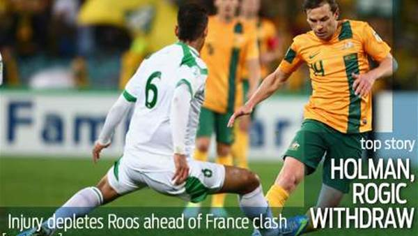 Socceroos lose Holman and Rogic to injury