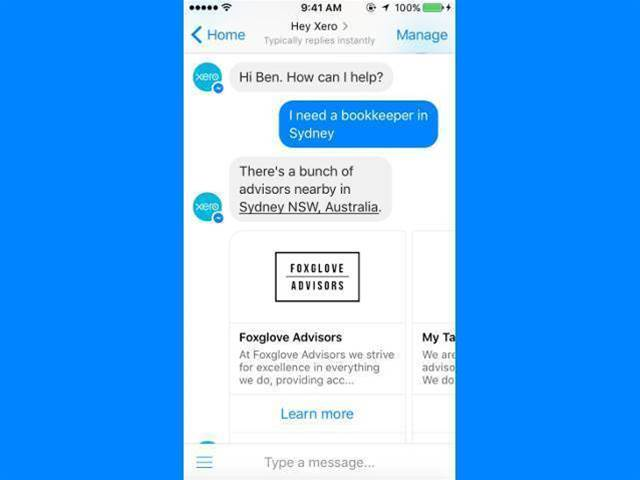 Xero's Facebook Messenger chatbot goes live