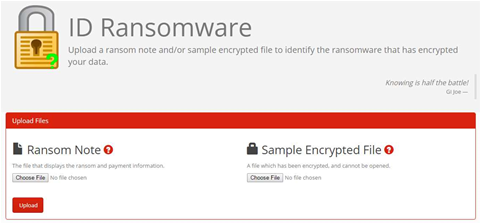 Identify the ransomware that's encrypted your data