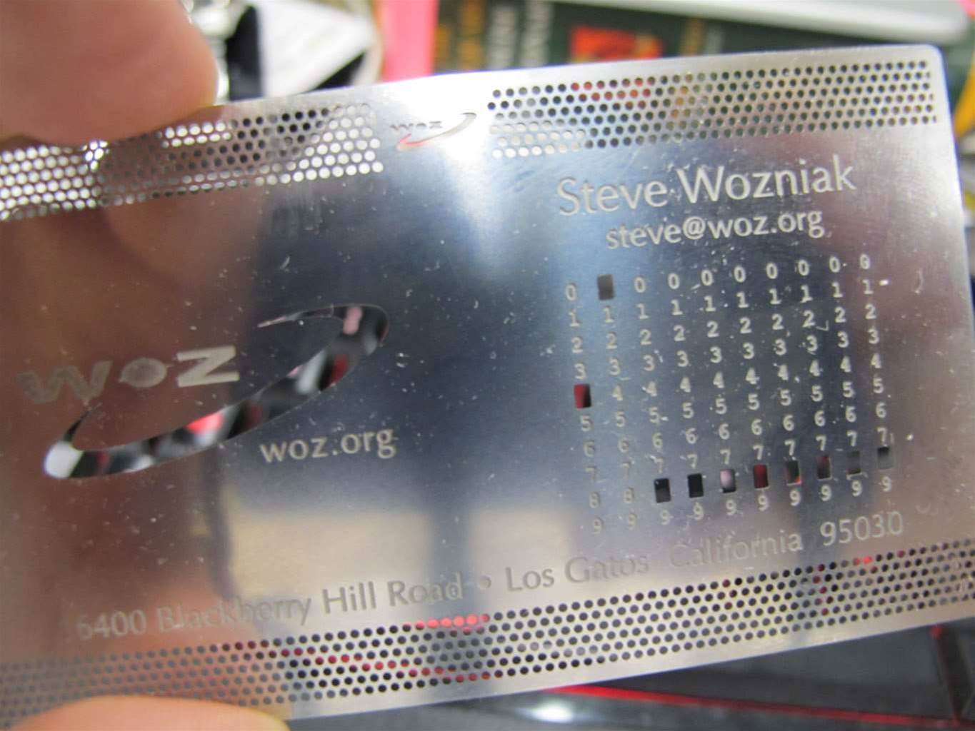 Steve Wozniak's business card is cooler than... anyone's