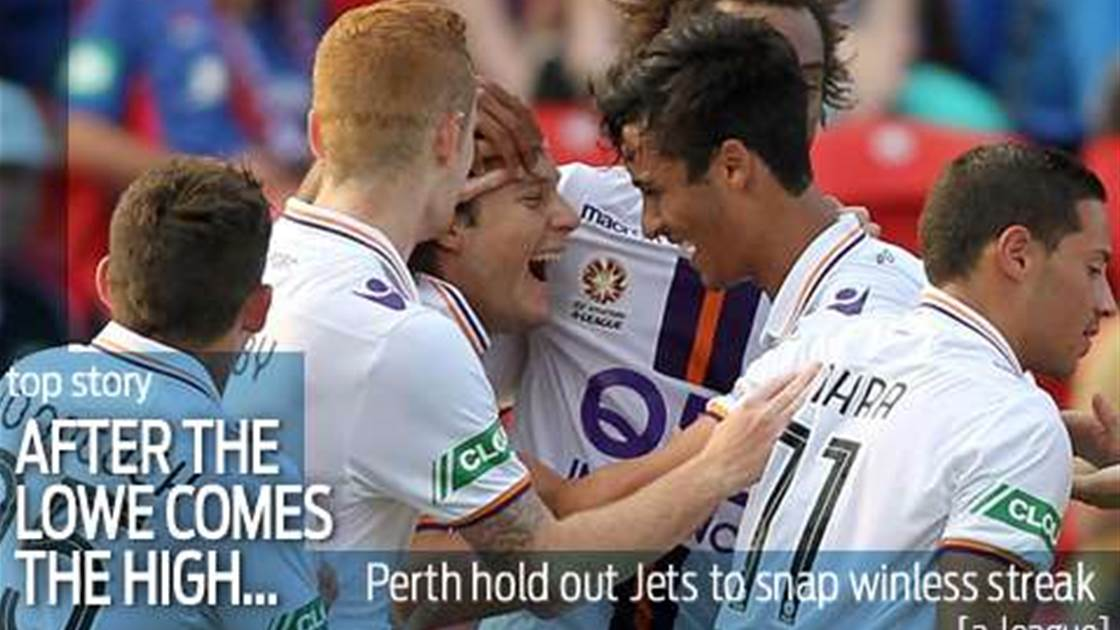 Lowe takes first win as Glory down Jets
