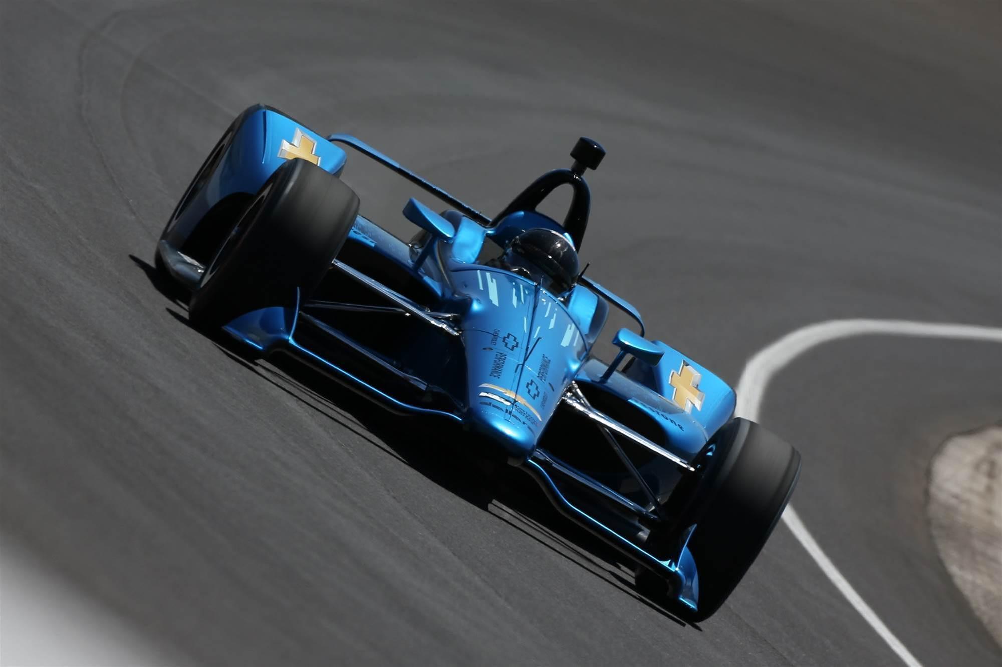 Indycar tests 2018 aero kit