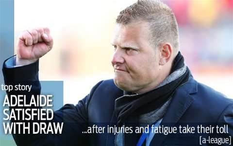 Gombau's Adelaide too pooped to pop