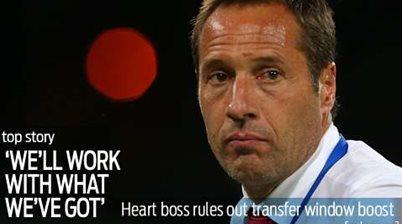 Heart boss not looking for reinforcements