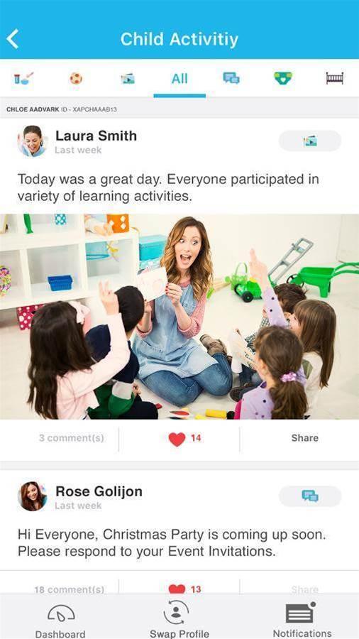 Childcare app keeps parents in the loop