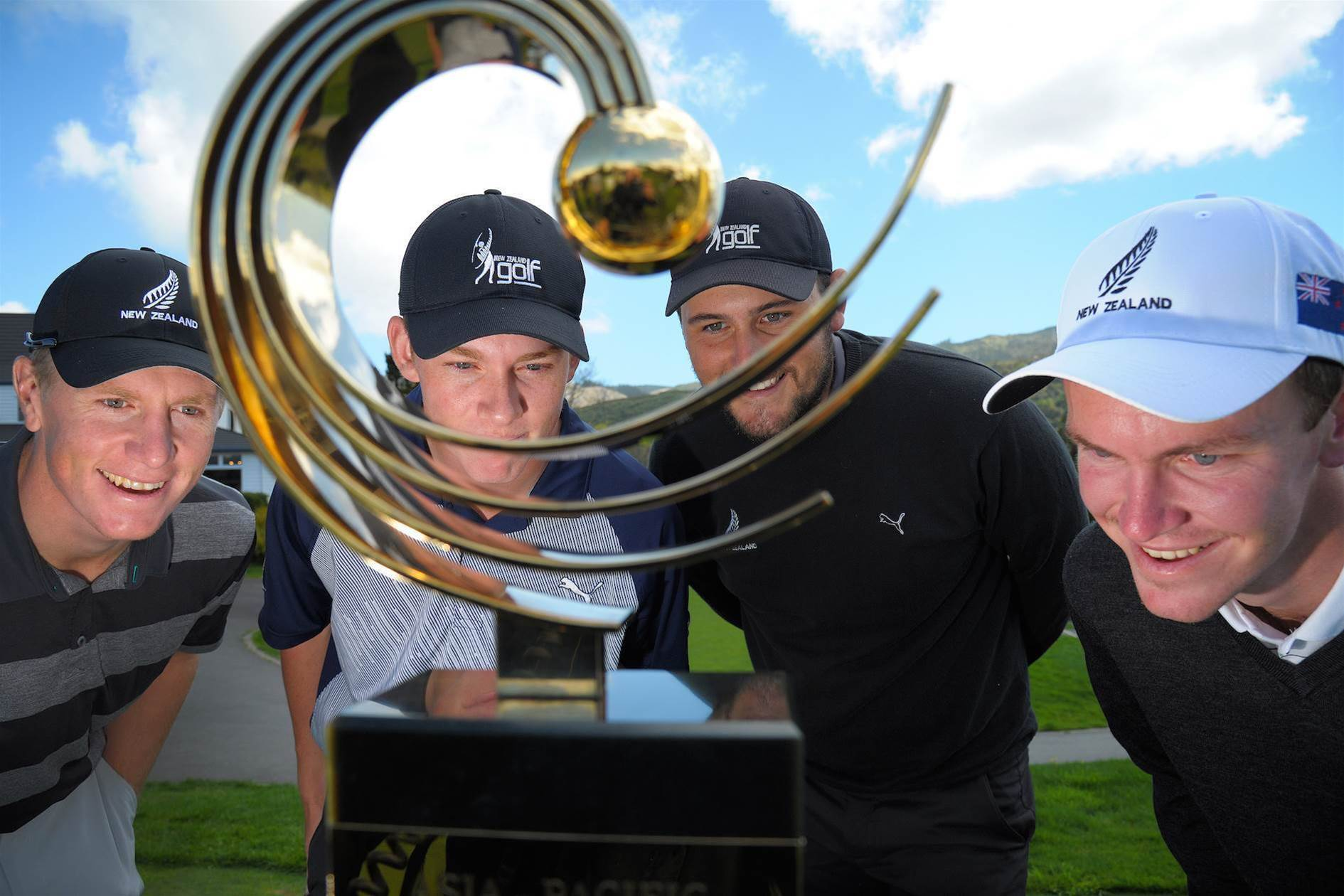 Inside the field at the Asian-Pacific Amateur