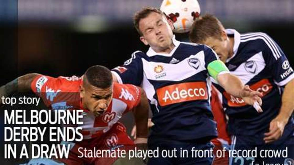 Melbourne derby ends in a stalemate
