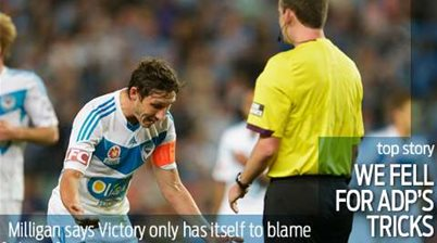 Milligan: Victory to blame for Del Piero fouls