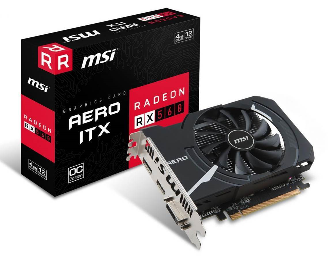 MSI releases new ITX RX 560 Aero video cards