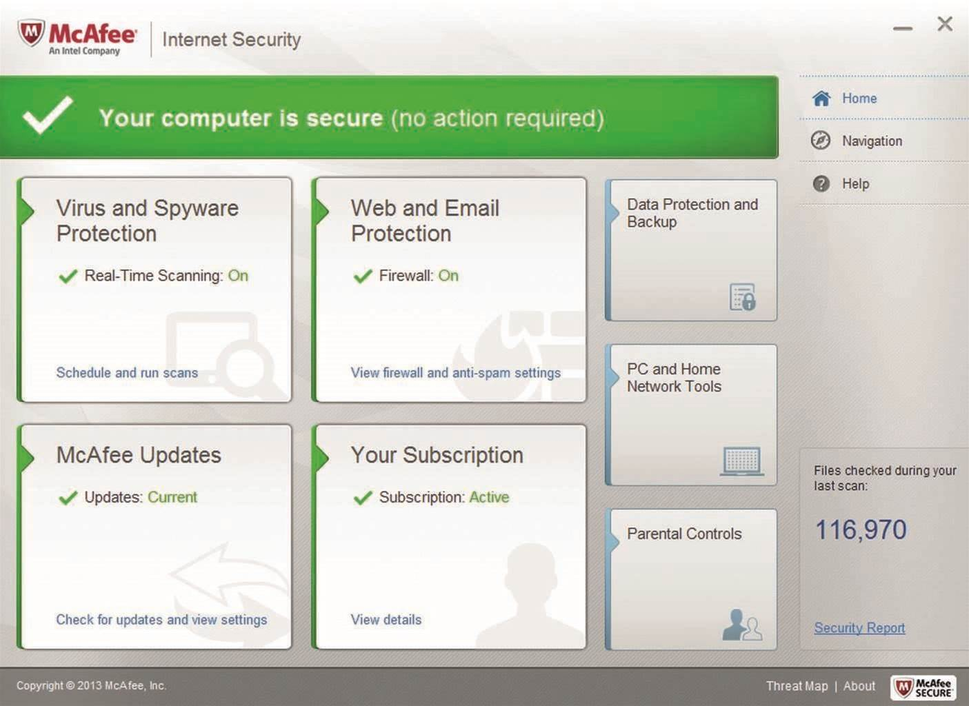 McAfee Internet  Security 2014