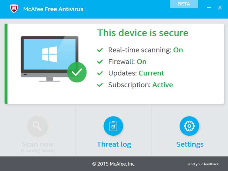 McAfee releases first McAfee Free Antivirus beta