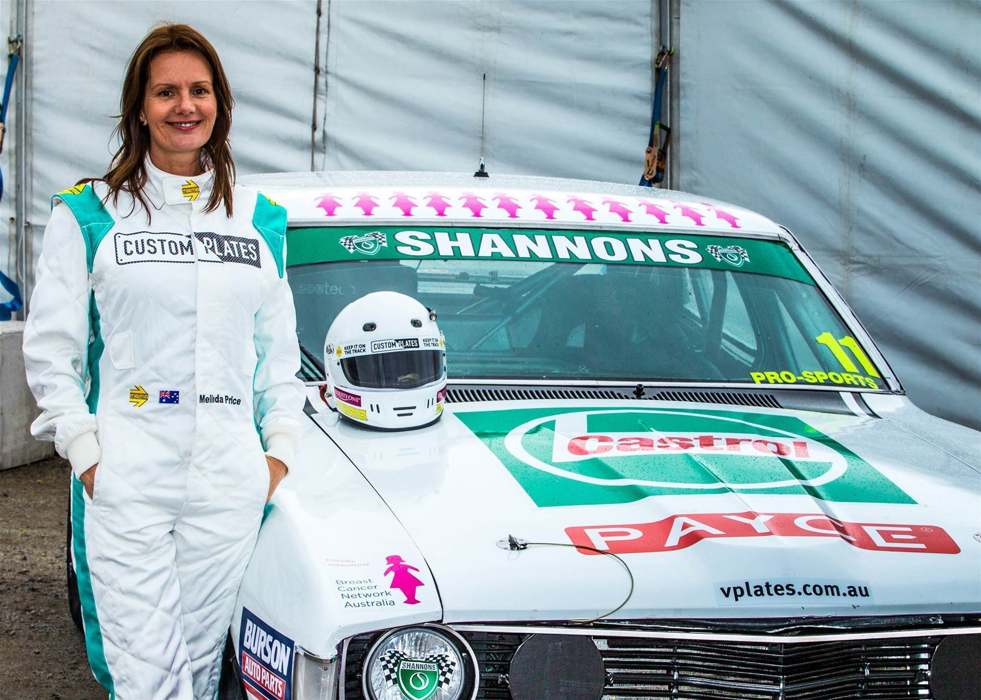 Melinda takes high speed trip down memory lane at Sandown