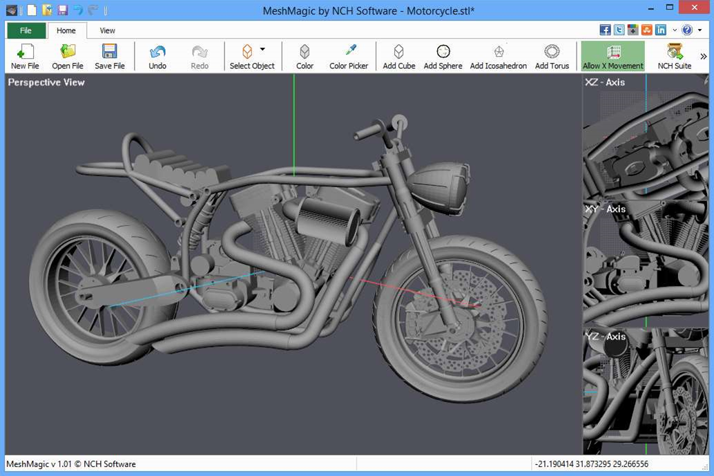 MeshMagic 3D is a simple STL viewer and editor