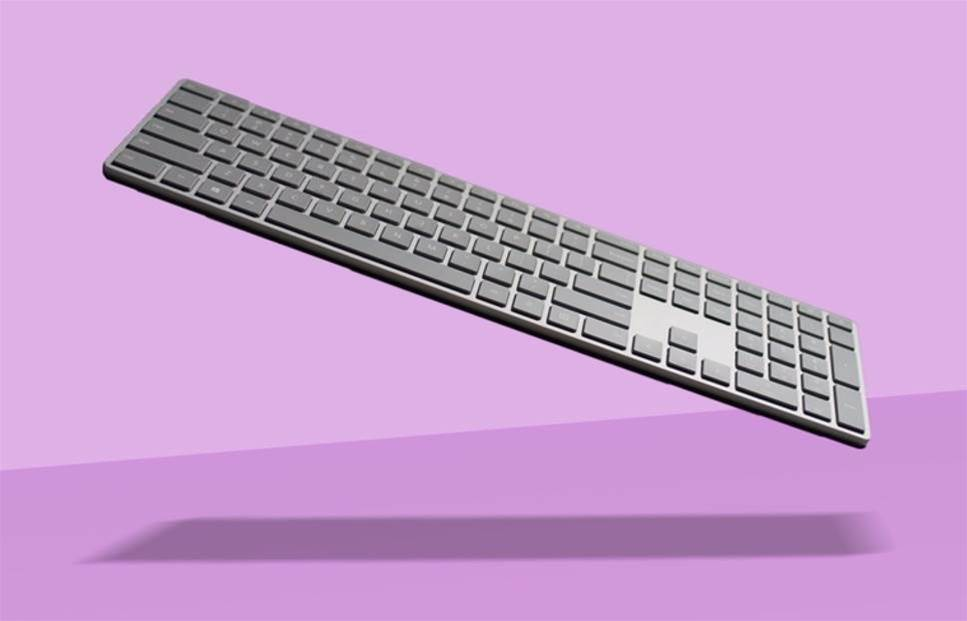 Microsoft Modern Keyboard puts Fingerprint ID front and centre