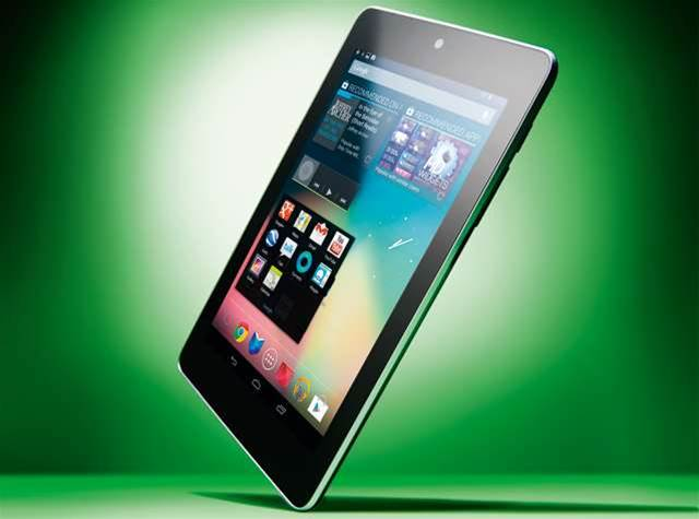 The 32GB Nexus 7 on sale at Harvey Norman, JB Hi-Fi, Officeworks