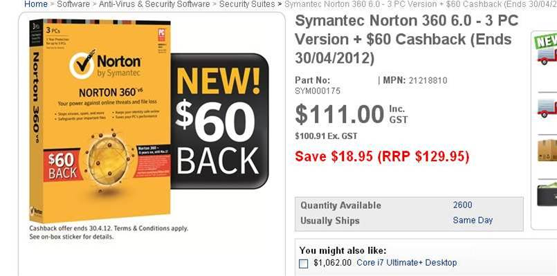 Antivirus: If you're going to pay, you might as well pickup a deal
