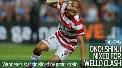 Wanderers star Ono in doubt for Phoenix clash