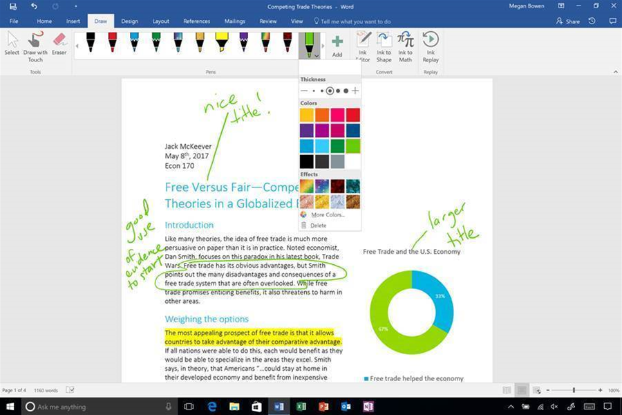 More Ink and other features coming to Office 365