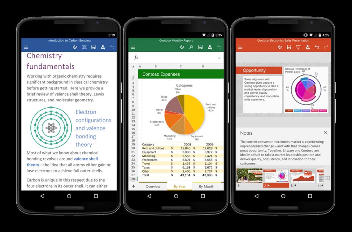 Final Office for Android has more free stuff than iOS version