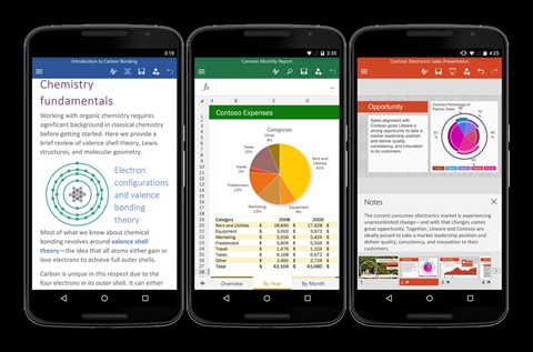 Microsoft releases final version of Office for Android