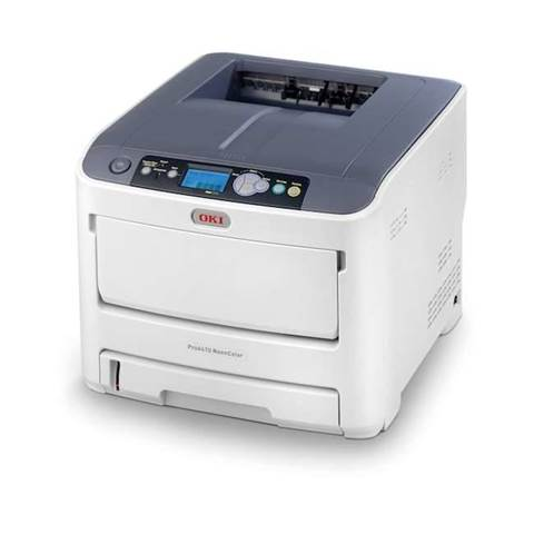 New OKI printer uses fluro colours
