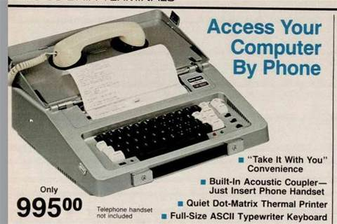 Old data terminals looked like typewriters