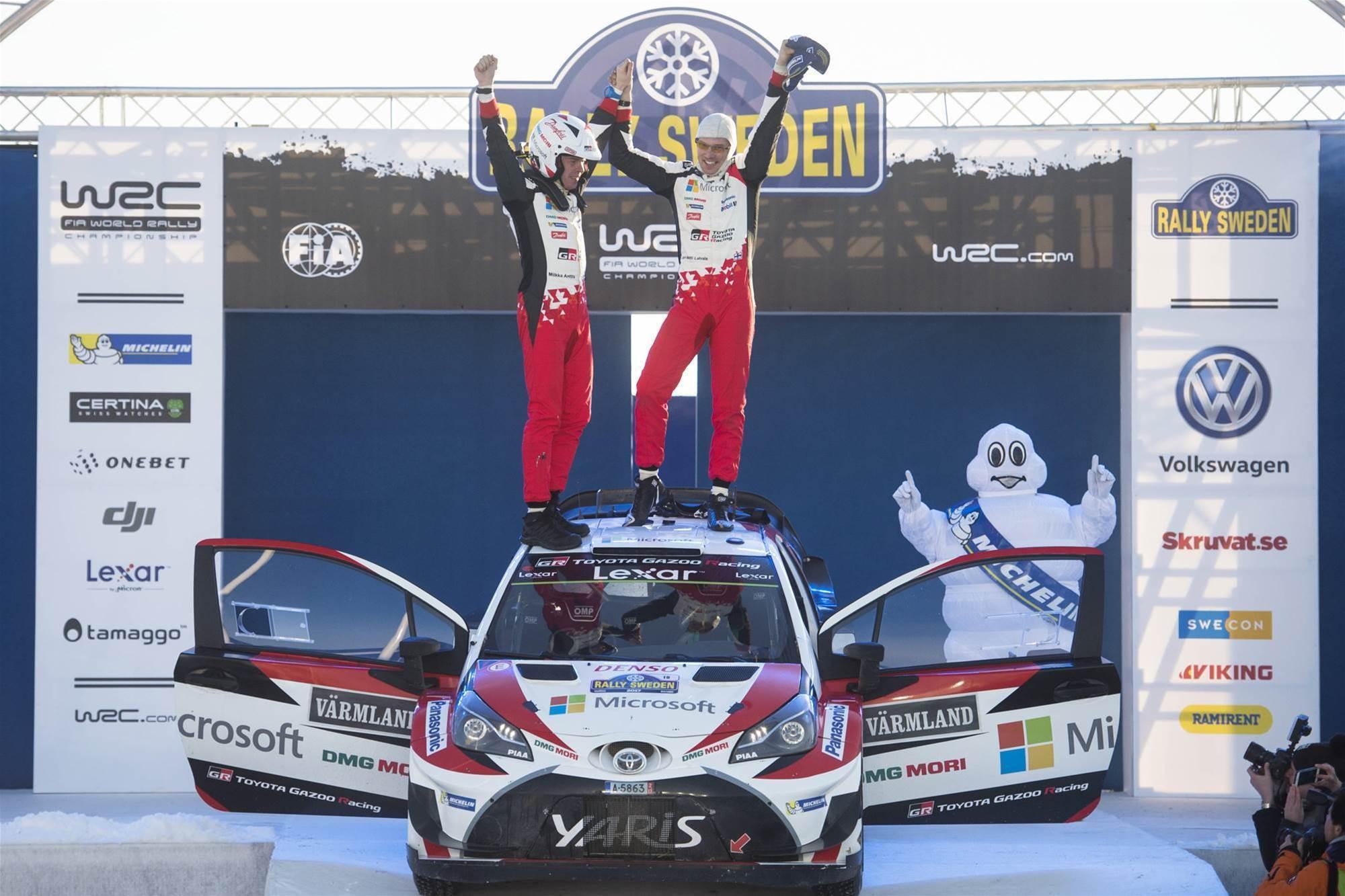 Toyota wins in fairytale WRC comeback