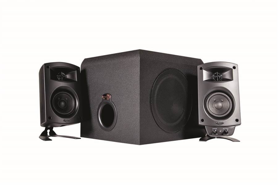 review klipsch promedia 2 1 atomic misc peripherals pc tech authority. Black Bedroom Furniture Sets. Home Design Ideas